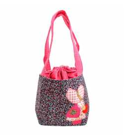Sac liberty rose mauve bleu motif fillette