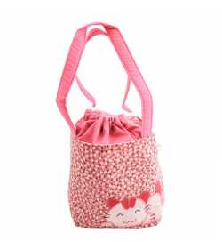 Sac liberty rose pâle motif chat