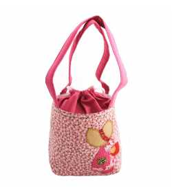 Sac liberty rose pâle motif fillette