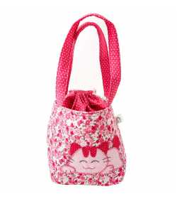 Sac fillette liberty rose motif chat