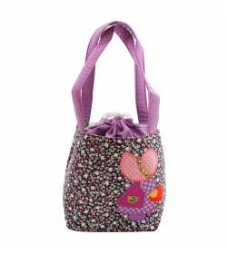 Sac fillette liberty mauve motif fille