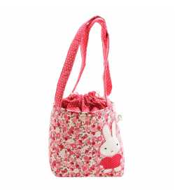Sac fillette liberty rose motif lapin