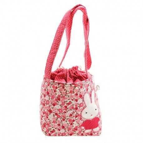 Sac fillette liberty rose motif lapin
