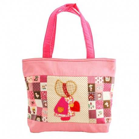 Grand sac fillette liberty rose