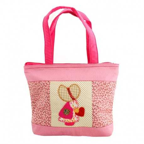Grand sac fillette liberty rose pâle