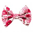 Barrette petit noeud liberty rose