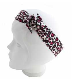 Bandeau magique léopard noir et rose