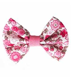 Barrette noeud liberty rose