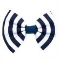 Barrette noeud marinière bleu et blanc