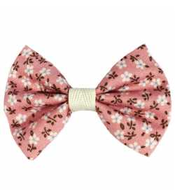 Barrette noeud liberty rose pâle