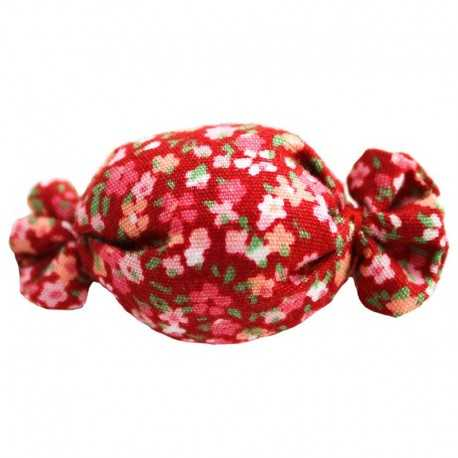 Barrette bonbon liberty rouge