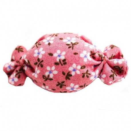 Barrette bonbon liberty rose pâle