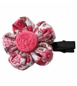 Barrette fleur liberty rose