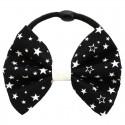 Chouchou noeud noir à étoiles blanches