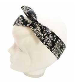 Bandeau cheveux bandana noir et blanc