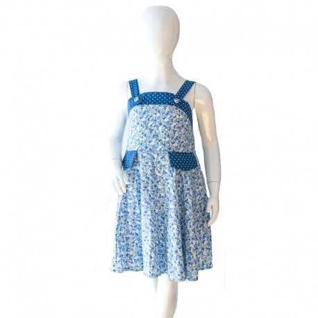 Robe Valentine liberty bleu