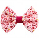 Barrette noeud liberty rouge jaune blanc