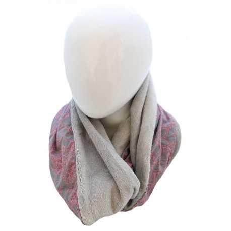 636523a16bb4 Echarpe snood fille grise et rose