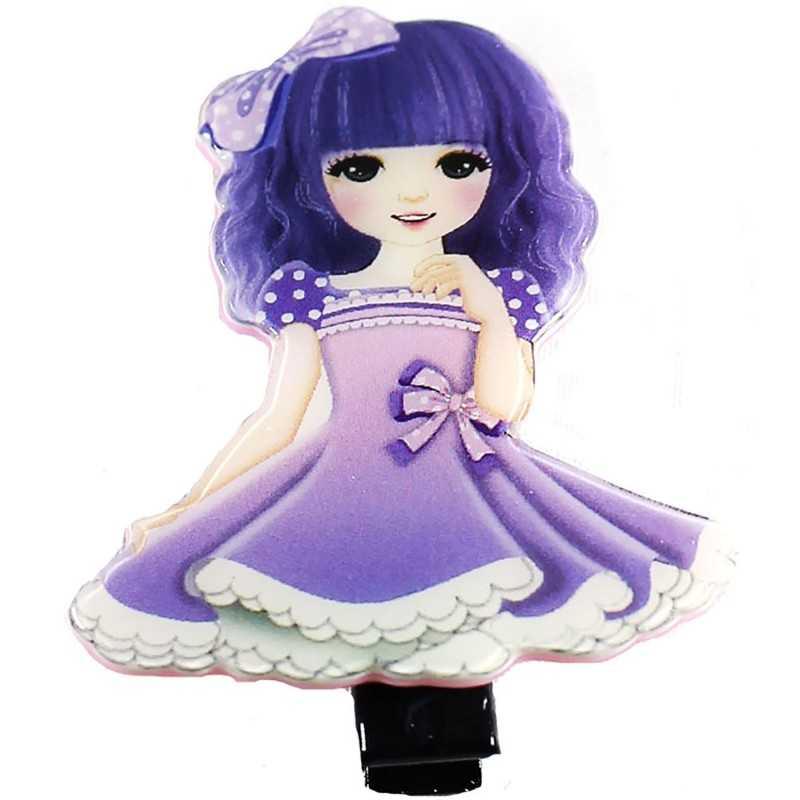 barrette cheveux originale manga violet. Black Bedroom Furniture Sets. Home Design Ideas