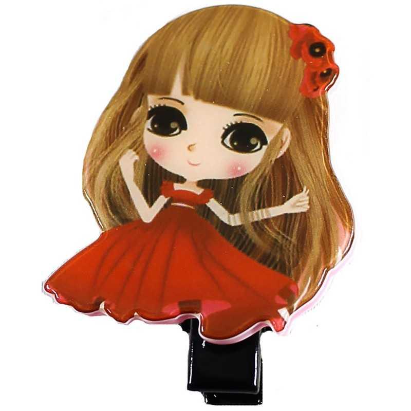 Barrette cheveux fille manga rouge - Photo fille manga ...