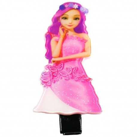 Barrette fille originale princesse rose