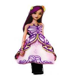 Barrette princesse rose et mauve