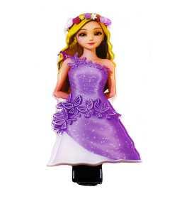 Barrette princesse mauve