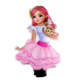 Barrette princesse rose et bleu