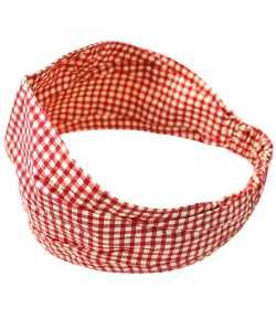 Bandeau élastique vichy rouge