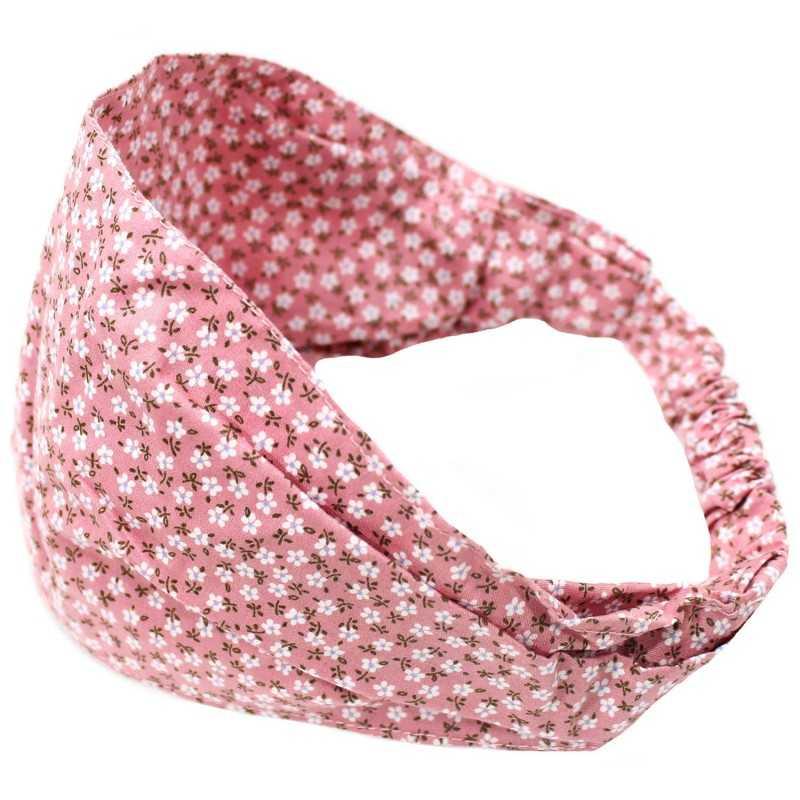 Bandeau élastique Liberty Rose Pâle