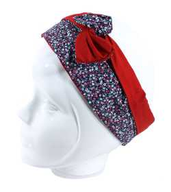 Bandeau rigide rouge et liberty