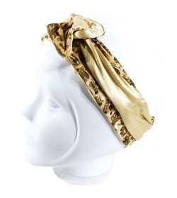 Bandeau articulé doré motif savane