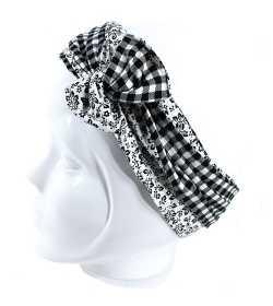 Bandeau rigide noir et blanc