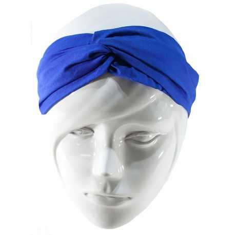 Bandeau twist bleu