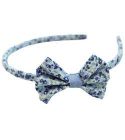 Serre-tête noeud liberty bleu et vert