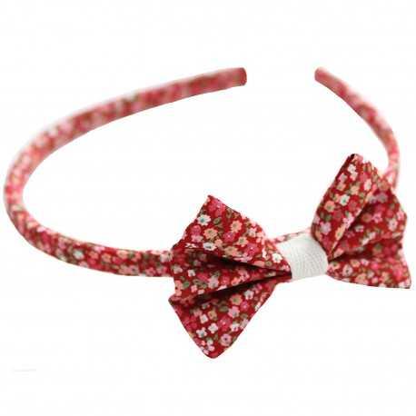 Serre-tête noeud liberty rouge