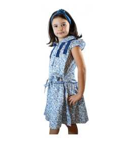 Robe Lily liberty bleu