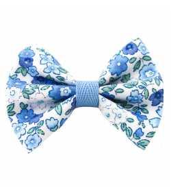 Barrette noeud bleu liberty