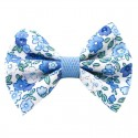 Barrette noeud bleu liberty