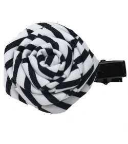 Barrette tissu noir et blanc