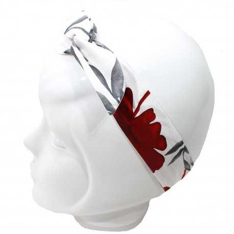 Bandeau magique blanc gris rouge