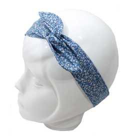 Bandeau magique liberty bleu blanc mauve