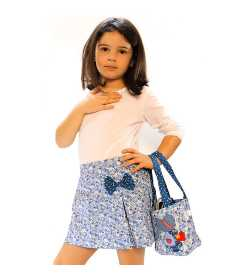Sac liberty bleu motif fillette