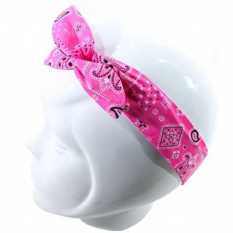 Bandeau magique bandana rose