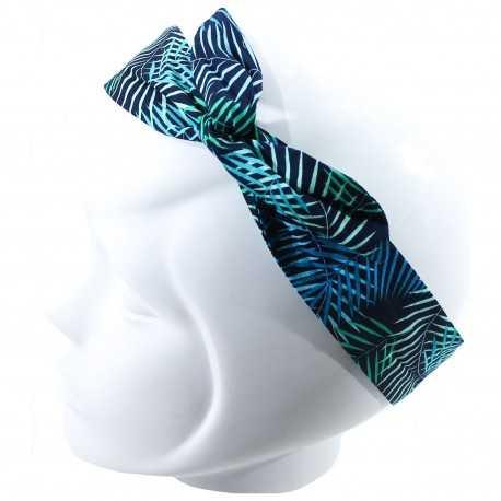 Bandeau magique tropical bleu