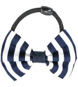 Chouchou noeud marin bleu et blanc