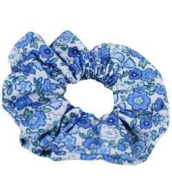 Chouchou liberty bleu