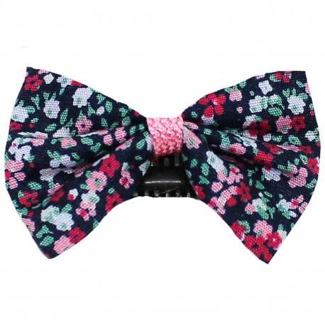 Barrette anti glisse liberty rose mauve bleu