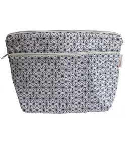 Trousse de toilette en coton enduit gris