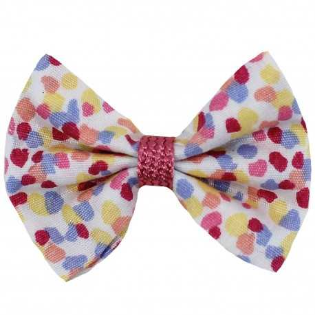 Barrette petit noeud multicolore